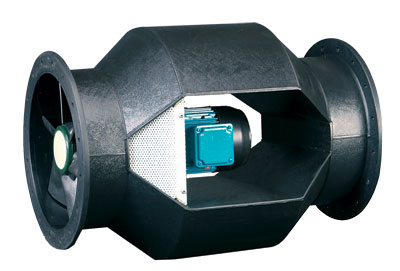 Bifurcated Axial Fume Handling Fans Polypropylene