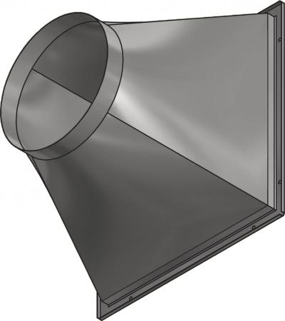 Square To Circular Duct Transformation Section Ekftp40 45